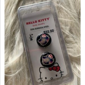 Hello Kitty Galaxy Spool Gauge Plugs Earrings